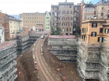 Aushub und Grabenverbau Bozen Zentrum
