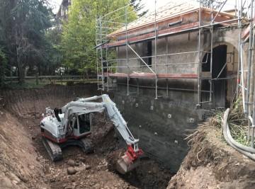 Aushubarbeiten Schloss Hörtenberg Bozen